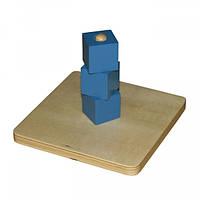 Кубики на вертикальном штырьке