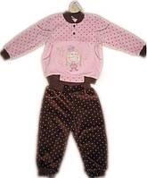 Велюровый костюм для девочки рост 68,74,80,86