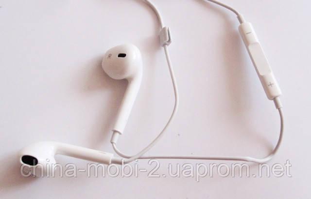 Наушники Apple Iphone + микрофон + регулятор громкости., фото 2