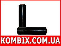 Стрейч пленка черная 128 метров: вес 1,5 кг|0,5 кг втулка, фото 1