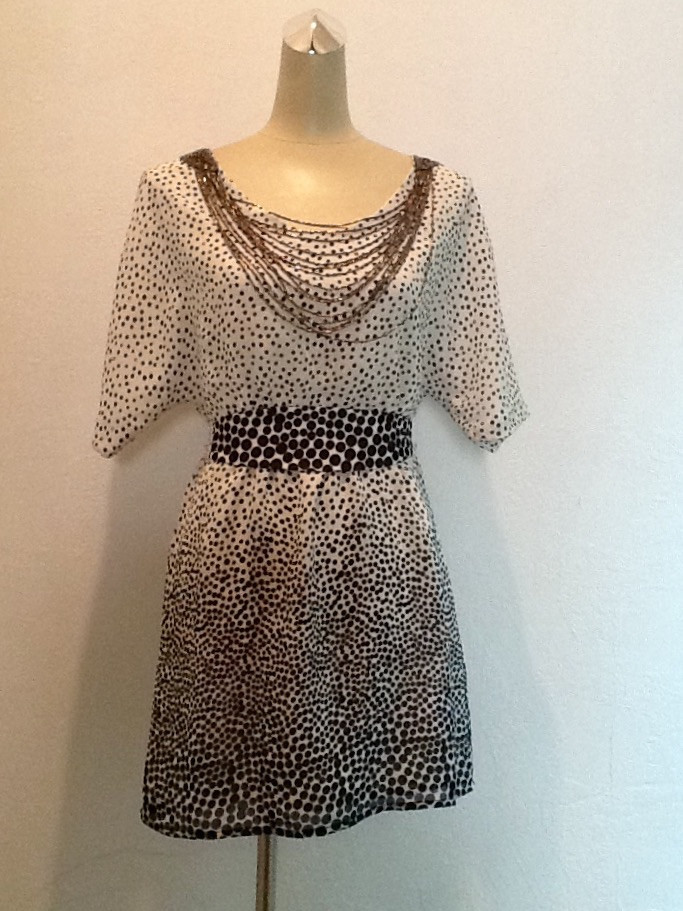 Платье в стиле Dolce&Gabbana шелк в горохи