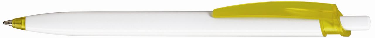 Ручка пластиковая VIVA PENS Milo бело-желтая
