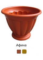 Цветочный горшок Афина пластиковый Ø 20 см терракотовый