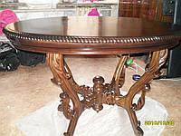Реставрация овального стола 19 века