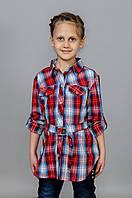 Рубашка в клетку на девочку, фото 1