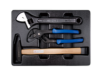 Набор инструмента (трубн. захват,разводн. ключ,молоток) KINGTONY 9-90103PP