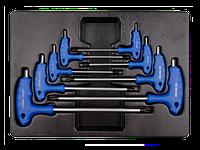 Набор шестигранников L-обр. шар. 2-10 мм. 8 предметов KINGTONY 9-22108MR
