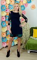 Женское платье темно-синее, фото 1