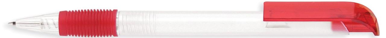 Ручка пластиковая VIVA PENS Neo bis прозрачно-красная
