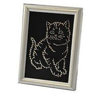 "Св.Картина EL-00001 ""Котенок"" 10х15 см, кристаллы SWAROVSKI белые"