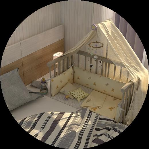 """""""Multi-bed"""" Classic кроватки для новорожденных! Приставная кроватка прямоугольная."""