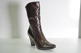 Ботинки женские зимние натуральная кожа на каблуке