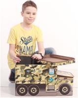 Детский пуф Военная машина 55*26*31 см