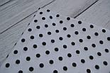 Лоскут ткани №157  белая с чёрным горошком 44*80 см, фото 2