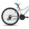 "Велосипед 24"" Pride Lanny 21 серо-бирюзовый 2016  SKD-76-64, фото 2"