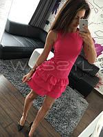 Платье с пышной юбкой из креп-дайвинга, фото 1