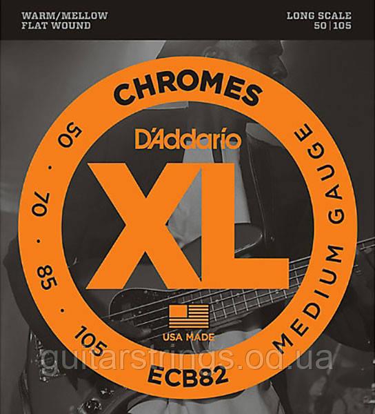 Струны D'Addario ECB82 Chromes Flat Wound Medium 50-105