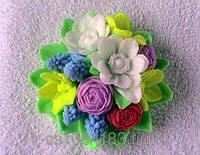 """Силиконовая форма  """"Букет весенних цветов 3D"""""""