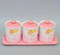 """Набор банок для сыпучих продуктов  """"Sweet"""" YX345"""