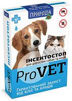 Капли от блох и клещей ИнсектоСтоп для котов и собак, 6 ампул в упаковке