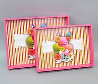 """Разнос """"Macarons"""" из 2 шт. PR4002"""