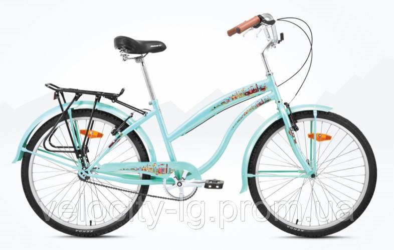 "Велосипед Avanti Cruiser Lady 26"" бирюзовый, фото 1"