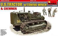 U.S Tractor  w\Towing winch     1\35    MiniART 35225, фото 1