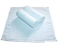 Махровое полотенце без бордюрное 30Х30  Белое 380
