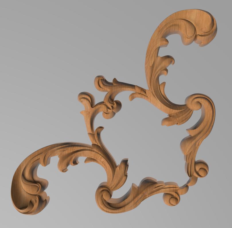 Код ДУ11. Деревянный резной декор для мебели. Декор угловой