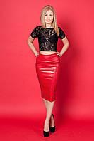 Праздничный женский костюм с красной юбкой