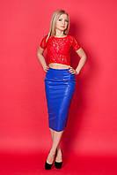 Ультра модный костюм с гипюровым топом