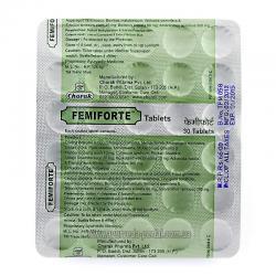 ФЕМИФОРТЕ, нормализации флоры вагины, антисептик для рецидивных и инфекционных влагалищных выделениях, 30 таб