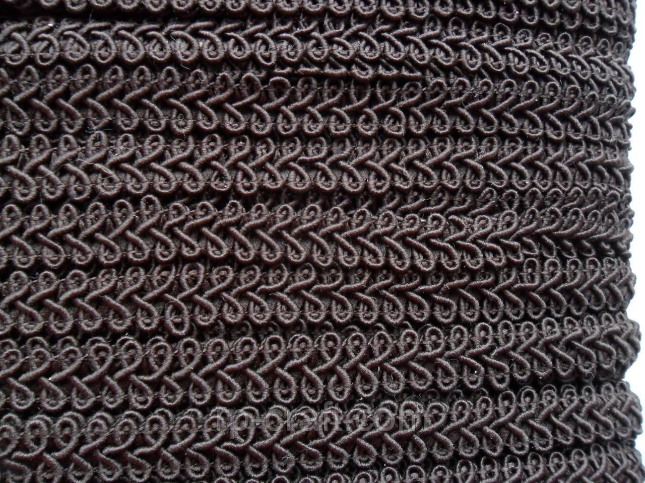 Тасьма декоративна, меблева. Темно-коричнева, 12 мм