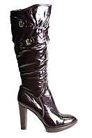 Сапоги женские зимние натуральная кожа на каблуке
