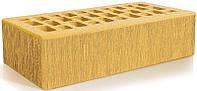 Кирпич клинкерный КОРСИКА желтый рифленый тростник ТМ Евротон
