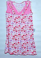 Нічна  сорочка  для  дівчат 1-6  років бавовняна