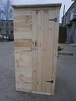 Туалет дачный деревянный эконом вариант