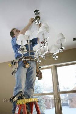 Установка и монтаж люстр ремонт светодиодных led светильников в Полтаве