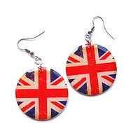 Женские серьги ручной работы «Британский флаг», фото 1
