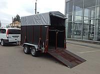 Причіп для транспортування коней 3,8 м х 1,6 м. Ресорний. Гальма., фото 1