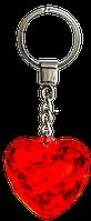 Брелок-сердце (диамантовое сердце) красный