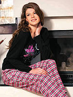 Пижама для дома женская стильная 100% хлопок