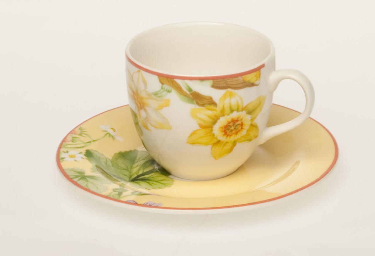 Набор чашек с блюдцем для чая Perla Ривьера
