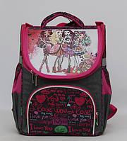 Школьный рюкзак для девочки.Прочный каркасный рюкзак. Рюкзак с ортопедической спинкой.Новый рюкзак.Код:КТМ250.