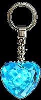 Брелок-сердце (диамантовое сердце) голубой