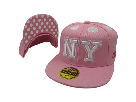 Кепка Snapback New York розовая