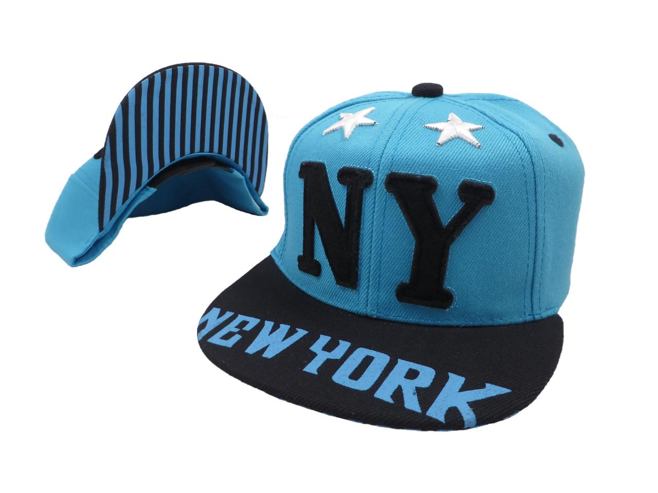 Кепка Snapback New York голубая