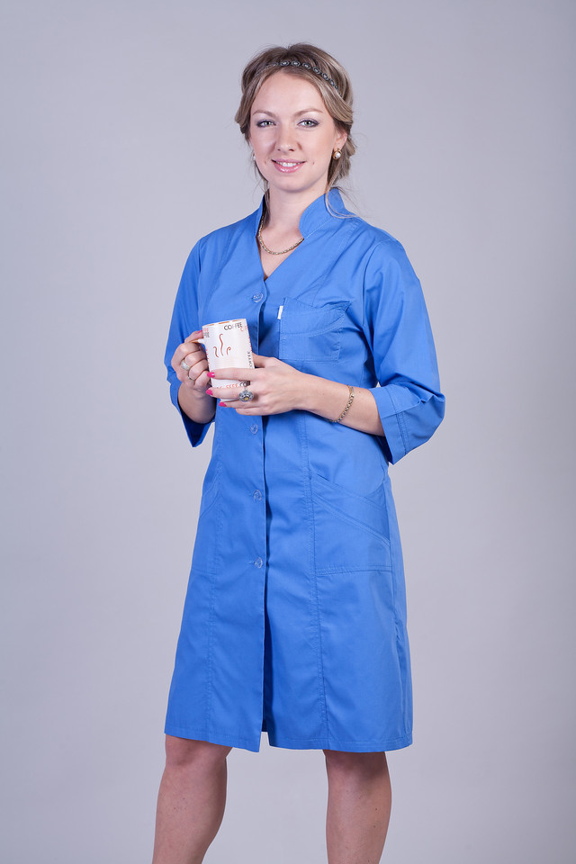 Медицинский халат синий