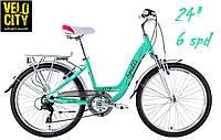 Spelli CITY 24 (6 spd) велосипед бирюзовый, фото 1
