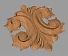 Код ДЦ23. Резной деревянный декор для мебели. Декор центральный